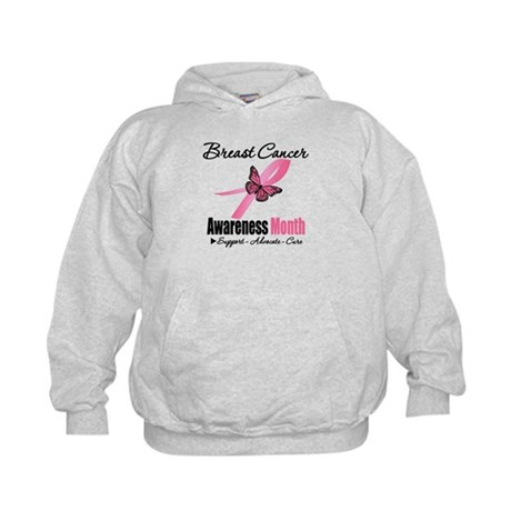 Breast Cancer Month Support Kids Hoodie
