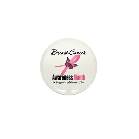 Breast Cancer Month Support Mini Button (10 pack)