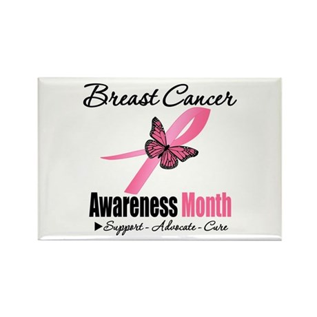 Breast Cancer Month Support Rectangle Magnet (100
