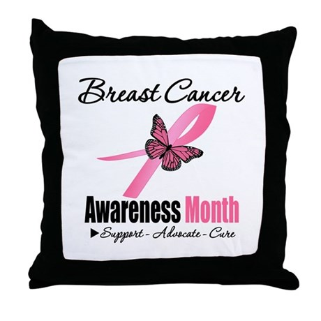 Breast Cancer Month Support Throw Pillow