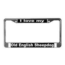 """Old English Sheepdog"" License Plate Frame"