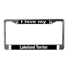 """""""Lakeland Terrier"""" License Plate Frame"""