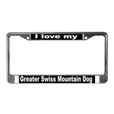 """Greater Swiss Mountain Dog"" License Plate Frame"