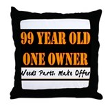 99th Birthday Throw Pillow