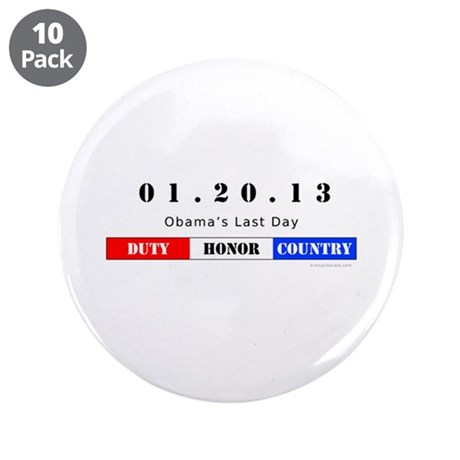 "1.20.13 - Obama's Last Day 3.5"" Button (10 pack)"