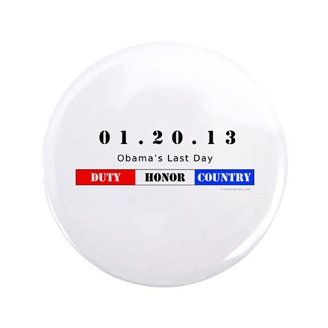 "1.20.13 - Obama's Last Day 3.5"" Button"