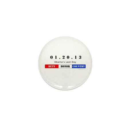 1.20.13 - Obama's Last Day Mini Button (100 pack)