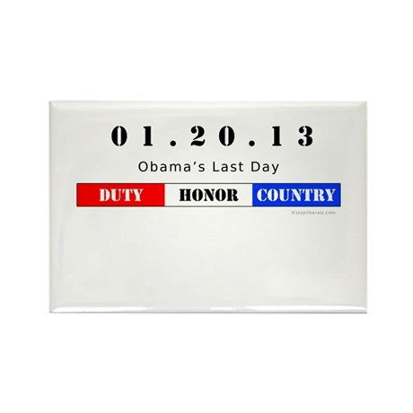 1.20.13 - Obama's Last Day Rectangle Magnet (100 p