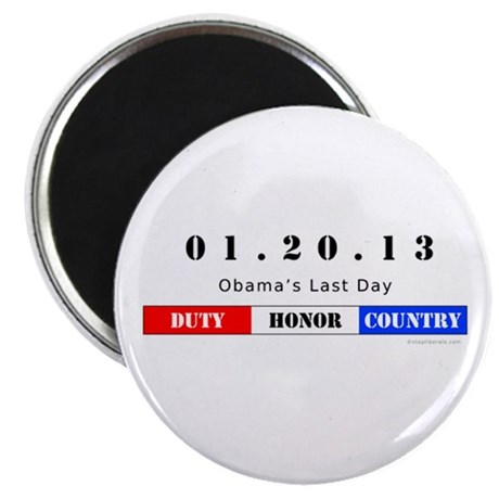 "1.20.13 - Obama's Last Day 2.25"" Magnet (100 pack)"