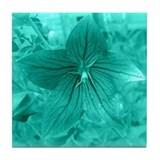 Turquoise Flower Tile Coaster
