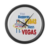 Vegas Large Wall Clock