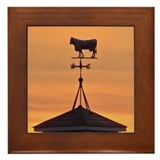Sunset on the Farm Framed Tile