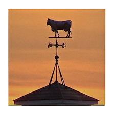 Sunset on the Farm Tile Coaster