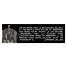 Lincoln on the People's Right to Revolt Bumper Sticker