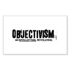 Objectist Revolution Rectangle Decal