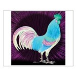 Moon Glow Rooster Small Poster