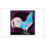Moon Glow Rooster Large Poster
