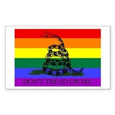 Rainbow Gadsden Flag Rectangle Decal