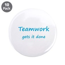 "Cute Teamwork 3.5"" Button (10 pack)"
