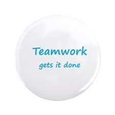 "Cute Teamwork 3.5"" Button"