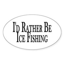 Rather Ice Fish Oval Decal