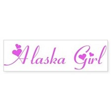 Alaska Girl Bumper Bumper Sticker