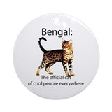 Cool people love bengals Ornament (Round)