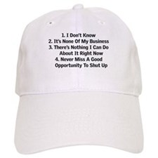 Four things to live by Baseball Cap