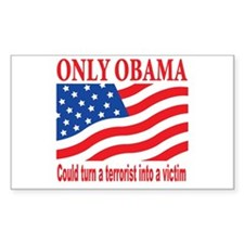 Anti Obama Rectangle Decal