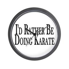 Rather Do Karate Wall Clock