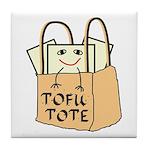 Funny Tofu Tote Tile Coaster