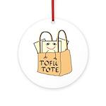Funny Tofu Tote Ornament (Round)
