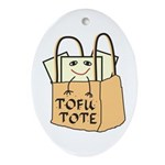 Funny Tofu Tote Ornament (Oval)