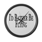 Rather Be Flying Large Wall Clock