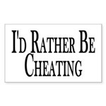 Rather Be Cheating Rectangle Sticker 10 pk)