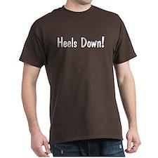 heels down horse saying Black T-Shirt