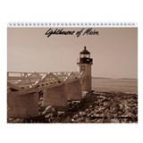Maine Lighthouse Wall Calendar