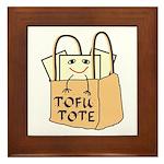 Funny Tofu Tote Framed Tile