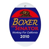 Boxer Working Oval Ornament