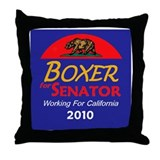 Boxer Working Throw Pillow