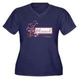 Pink Scroll with No White Women's Plus Size V-Neck