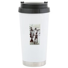 19th C. Fisherman Ceramic Travel Mug