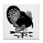 Turkey Weathervane Tile Coaster