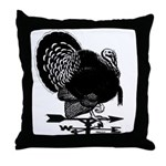 Turkey Weathervane Throw Pillow