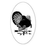 Turkey Weathervane Oval Sticker (10 pk)