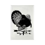 Turkey Weathervane Rectangle Magnet (100 pack)