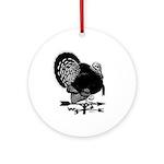 Turkey Weathervane Ornament (Round)