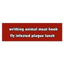 Animal Cruelty Vegetarian Bumper Bumper Sticker
