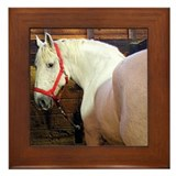 White Horse Framed Tile