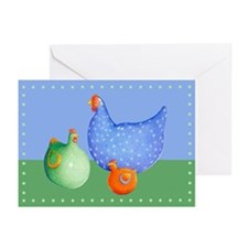 French Hens Greeting Cards (Pk of 10)